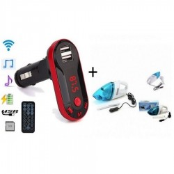 Aspirator Auto + Modulator FM mp3 cu port USB