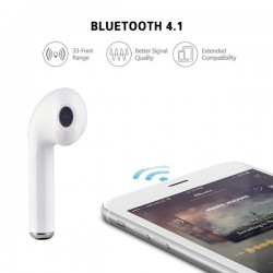 Casti wireless, i7 TWS Twins Stereo True Wireless Earbuds V4.2+DER, High Definition Music, cu Microfon, Apeluri Telefon